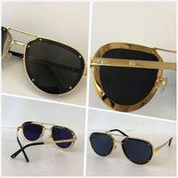 خمر مصمم نظارات للرجال النساء النساء الفاخرة بدون شفة إطار نظارات الذهب شكل أعلى جودة نظارات uv 400 عدسة 01945