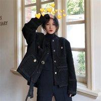 Cappotto corto Autunno e inverno Design allentato Caratteristica Caratteristica Moda Nobile Stile Coreano Signore Top Giacche da donna