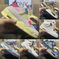 2021 Nueva llegada Top Quality White X Sail Men Jumpman 4 4s Zapatillas de baloncesto Kaws Travis Scotts Cactus Jack Cool Grey Femenino Femenino Zapatos