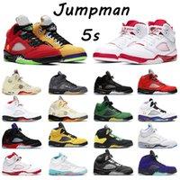 Nik NK 5 5s retro white off  كرة السلة jumpman 5 أحذية 5S المهنية الرياضة أحذية رياضية النار البديل العنب الهاجاء الثور ضوء أكوا وردي رغوة الرجال المدربين النسائية الرياضية
