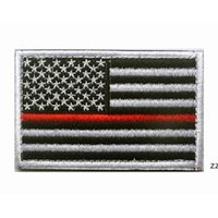 미국 국기 전술 군사 패치 골드 테두리 미국 국기 lron 패치에 Applique 청바지 패브릭 스티커 패치 모자 배지 HWF8842