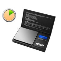Electric Digital Scale Pocket Mini Electronic Scales Flip Style with LCD Display 100g 200g 500g 0.01g for Jewelry Diamond Weight Balance
