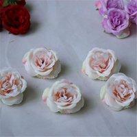 10pcs / lot mini fleurs artificielles Roses de soie en soie pour la décoration de mariage Fake Fake Scrapbooking Couronne florale Accueil ACC 551 V2
