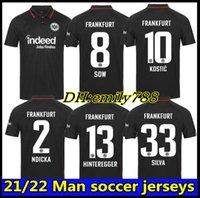 21 22 Eintracht Frankfurt Jersey di calcio 2021 2022 Die Adler Sow Silva Kostic Jovic Football Uniform Kit Kit Kit HaSebe Kamada Hinteregger Maillot deley Camicia.