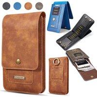 Cep Telefonu Çantası Evrensel Cep Çanta Manyetik Toka ile Çevirme Kart Yuvası Cüzdan Deri Kılıf Kapak