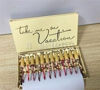 Makeup набор губ 12 цветов блеск для губ Возьмите меня в каникулы матовой жидкой помады 12 шт. Kit Lipgloss