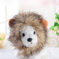 Cat Costumes Pet Hat Costume Cosplay Lion Mane Wig Cap With Ears Kitten Adjustable Dress Up Supplies Winter For Cats And Dogs