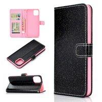 Bling Glitter PU Cuero Flip Book Book Tarjeta Tarjeta Carcasas de teléfono para iPhone 12 11 Pro Promax X XS MAX 7 8 Plus Funda de caja