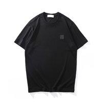 Cp topstoney verão ícone simples de alta qualidade algodão manga curta casual cor sólida t-shirt masculino moda top