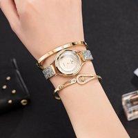 Geschenkuhr Set 3 Stück Frauen Armbanduhren mit Big Box Marke Zonmfei Frau Kleid Design Armbanduhren