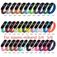 Sangle 35Colors pour la bande Xiaomi MI 6 5 4 3 NFC Silicone Bracelet Bracelet Remplacement de la bande Xiaomi 6 Miband 5 4 3 Couleur du poignet TPU Strap
