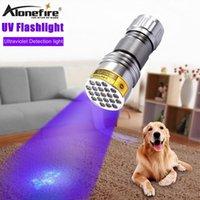 LED 395NM Ultra Violette Katzenhund Haustier Urin Geld Reise El Unsichtbare Tinte UV-Detektor Licht Batterie Taschenlampen Fackeln