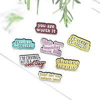 Divertido creativo carácter esmalte Pines Pins Colors Fashion Varios tipos Broches para Pins Pins Bolsas de camisa 684 T2