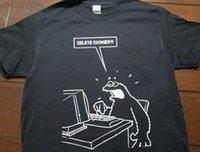 حذف ملفات تعريف الارتباط كوكي الوحش تي شيرت المحملة الكمبيوتر مضحك