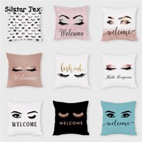Cushion Decorative Pillow Silstar Tex Beautiful Eyes Cushion Cover Pillowcases For Women Fashion Girls Gift With Printed Decor Bedroom Livin
