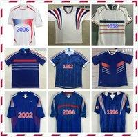 VELVET 1998 Francia Jerseys Retro Zidane Soccer Jersey Henry Vintage Clásico 98 Camisa de Fútbol Maillot De Pie