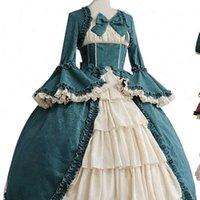 Mittelalterliche Retro GOTHED Court Frauen Kleider Royal Ball Square Hals Enge Taille Bowknot Elegantes Kostüm Vestido Ropa Muj