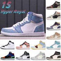 Hyper Royal 1 1s scarpe da basket ruggine ombra neutro grigio grigio cremisi lupo vela cactus da uomo sneakers donne formatori US 5.5-12