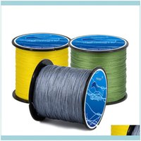 Braid Lines Sports & Outdoorsbraid Line 500M Fishing 4 Strands Wires Rally Test 8 To100Lb Super Strong Japan Multifilament Pe Braided Drop D