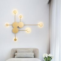 Wall Lamp Nordic Led Black Gold White Branches Long Arms Lights For Home Staircase Bedroom Living Room Decoration