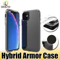 Cas pour Huawei P40 Lite Mate 30 Y7A Moto G9 Power Edge S Boîte de téléphone mobile transparent Armure hybride Couvercle de téléphone portable clair Izeso