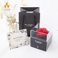 Gül Çiçek Mücevher Kutusu Kolye Yüzük Korunmuş Çiçek Kutusu Doğum Günü Hediye Kutusu Sevgililer Günü Anneler Günü Hediyesi HWD9245