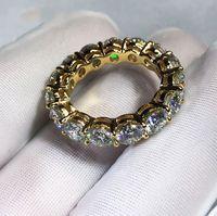 Victoria Wieck العلامة التجارية الجديدة المجوهرات الفاخرة 925 silvergold املأ شكل بيضاء توباز تشيكوسلوفاكيا الماس المرأة الزفاف الفرقة الدائري ل هدية عشاق
