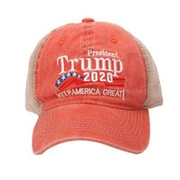 New Donald Trump 2020 Cap 3D Embroidry USA Flag Hat Star Letter Camo Army Caps Outdoor Sports Shadow Baseball hats TG0281