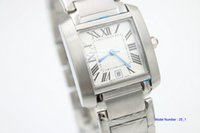 Moda High Cuarcalty Quarz Reloj de tanques 31mm W5200028 Fecha Roma Dial blanco Silver Acero inoxidable Mujeres Relojes Casual Vestido Pareja