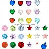 مجوهرات النتائج مكونات Jewelry120pcs / lot 12 ألوان حجر عيد ميلاد صغير سحر تناسب الزجاج الذاكرة العائمة المنجد الهدايا للأطفال