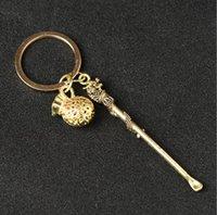 Brass copper Color Metal Earpick Dab Dabber Smoking Accessories Tools 7 Types Ear Pick Spoon Keychain Key Ring Shovel Wax Scoop Hookah Shisha Pipe