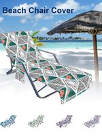 Portable Beach Chair Towel Long Strap Bed Cover With Pocket For Summer Pool Sun Outdoor Activities Garden & Accessories