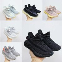 With Shoe lace Systerm Infant Kanye Sneaker Asriel Tail Light Synth Cloud White kids Running shoes big boy& girl Toddler Children Trainers