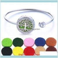 Bracelets Jewelry10Pcs Lot Quality Magnet Bracelet Jewelry Aroma Stainless Steel Bangle Essential Oils Diffuser Locket Bracelet1 Drop Delive