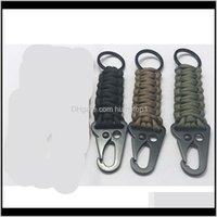 Bracelets et camping Randonnée Sports à l'extérieur Drop Drop Livraison 2021 Corde parapluie Kit de survie Kit de survie BOIT BOUTON BOUTON BOUTON BOULAGE EAGLE BEAK KEY Chaîne K