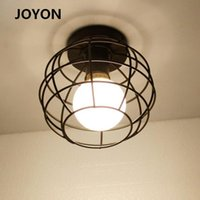 Plafoniere LED Vintage LED E27 Celing Light Modern Nordic Retro Lampada di ferro Decorazione per soggiorno Bar Black Loft Fixture
