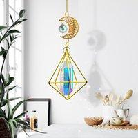 Gartendekorationen Glänzend Anhänger Kristall Fenster Dekoration Hängende Verzierung Wind Pime Rainbow Maker Outdoor Home Prism Diamant Light Cathe