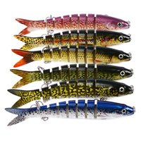 13.28cm 19g Sinking Wobblers Fishing Lures Jointed Crankbait Swimbait 8 Segment Hard Artificial Bait For Fishing Tackle Lure