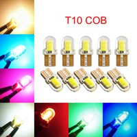 100Pcs T10 168 194 W5W COB 4 Chips Silicone LED Car Bulbs For Clearance Lamps License Plate Lights 12V