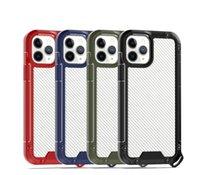 Casi antiurto in fibra di carbonio per iPhone 12 11 Pro Max XS XR x 7 8 PLUS SE2