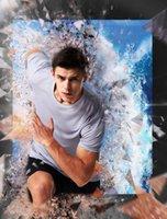 Koşu Erkekler Moda Şort Kollu Fitness Spor Tops Hızlı Kuru Vücut Geliştirme Spor Sıkıştırma Spor Eğitim Gömlek Tops
