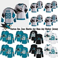مخصص San Jose Sharks Jersey 88 Brent Burns 39 Couture 8 جو بافيلسكي 65 إريك كارلسون 19 ثورنتون 48 Hertl Hockey Jerseys