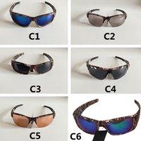 위장 스포츠 야외 선글라스 스팟 도매 UV400 선글라스 남성 여성 사이클링 안경 안경 안경 고글 안경 12 색 옵션