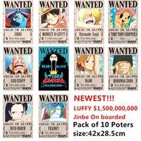 yutong 10 шт. / Лот один кусок разыскиваемые плакаты новейшие аниме плакат одностек луффи oce jinbe Nami Chopper Robin Zoro Sanji Usopp Franky игрушки