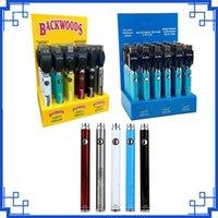 Original CO Backwoods Twist Batterie Préchauffe VV Piles 900mAh Tension inférieure Réglable avec stylo de vape chargeur pour 510 cartouches 30pcs A Affichage Boxes