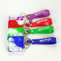 FIDGET 장난감 간단한 키 체인 푸시 버블 팬츠 열쇠 고리 안티 스트레스 보드 릴리프 공 감압 장난감 G400YO4