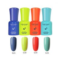 Cores Gel Nail Polonês 6ml Soak Off Orgânica UV LED Vernish Semi Permanente Casaco Superior Art G82341