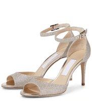 Zarif Tasarımcı Rüya Manzarası Annie Düğün Ayakkabı Yüksek Topuklu Strass Sandalet Yemeği Styling Açık Toe Yuvarlak Kafa Stiletto Elbise Ayakkabı Parti Shoess Boyutu 35- 43