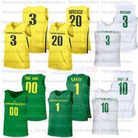 Basketbol Özel Oregon Ördekler Formalar 3 Payton Pritchard 5 Chris Duarte 32 Anthony Mathis 33 Francis Okoro