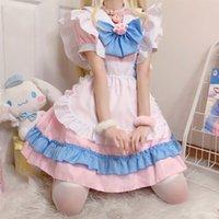 Thema Kostüm Rosa Sweet Lolita Dress Plus Größe Japanischer Anime Cosplay Niedliche Kawaii Lolita Fancy Schürze Maid Kleid Mädchen Halloween Party Costu